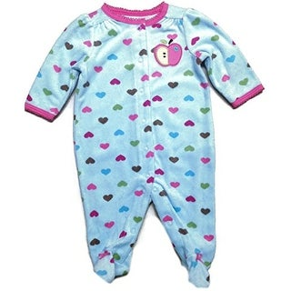 Carter's Baby Girls' Terry Apple Hearts Footed Sleeper (3 Months)