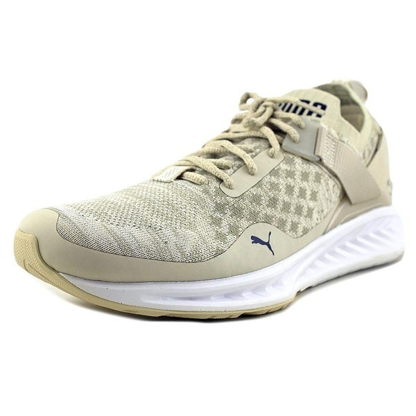 6eaaf1da391473 Puma Ignite evoKNIT Lo Pavement Men Oatmeal-VINTAGE KHAKI-Peacoat Running  Shoes