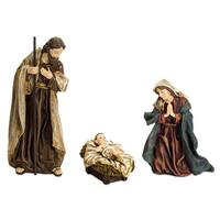 Set of 6 Brown and White Religious Holy Family Christmas Decoration 13""