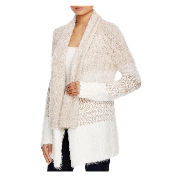 Cupio Womens Cardigan Sweater Open Front Colorblock