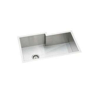 "Elkay EFUS342110RDBG Crosstown 34-1/2"" Single Basin 16-Gauge Stainless Steel Kitchen Sink for Undermount Installations - Basin"