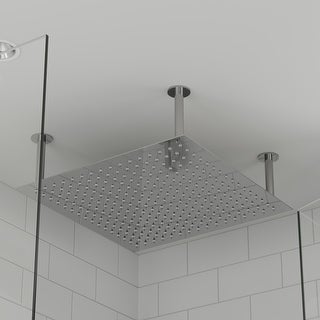 """Link to ALFI brand RAIN24S-PSS 24"""" Square Polished Rain Shower Head Similar Items in Showers"""