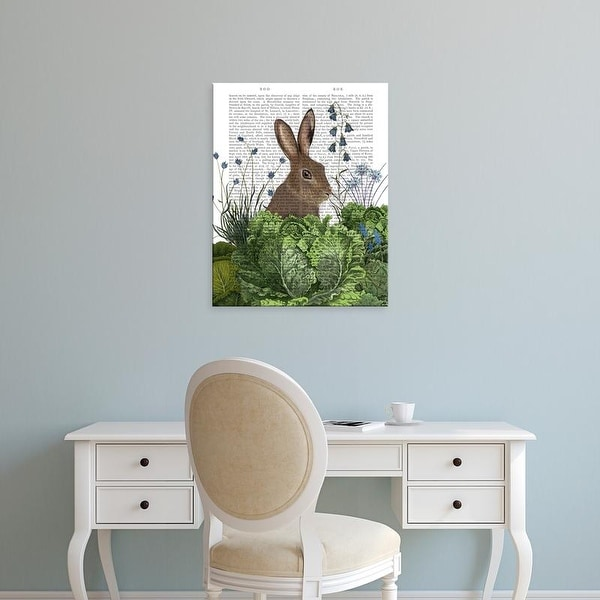 Easy Art Prints Fab Funky's 'Cabbage Patch Rabbit 2' Premium Canvas Art