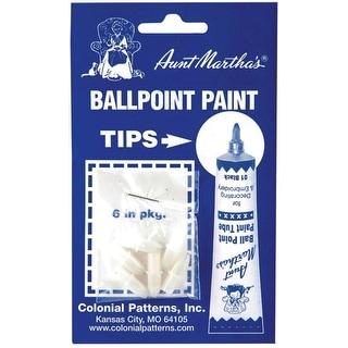 Aunt Martha's Ballpoint Paint Tube Replacement Tips 6/Pkg-