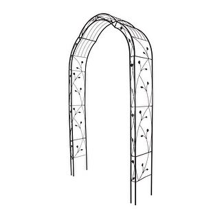 Link to Kinbor Metal Garden Arch, 8.8 Feet High x 4.9 Feet Wide Outdoor Wedding Arch for Climbing Plants, Lawn, Party Decoration Similar Items in Outdoor Decor