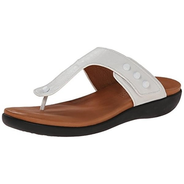 Gentle Souls Womens Galaxy Thong Sandals Leather Casual