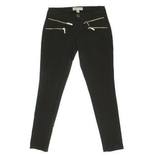 MICHAEL Michael Kors Womens Twill Asymmetric Capri Pants - 12
