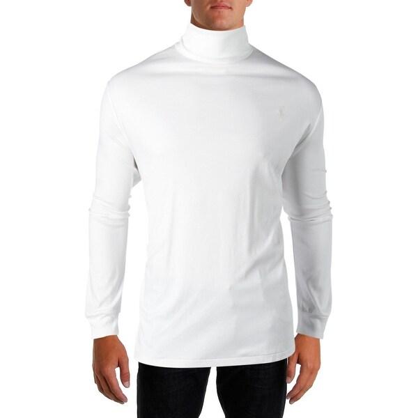 3fc79bd22 Polo Ralph Lauren Mens Turtleneck Shirt Soft-Touch Long Sleeves - XXL