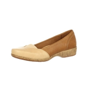 4EurSole Casual Shoes Womens Soprano Low Wedge Brown RKH130