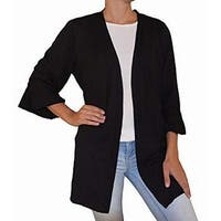 Ny Collection Women's Bell Sleeve Open Front Jacket