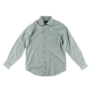Private Label Mens Cotton Checkered Button-Down Shirt