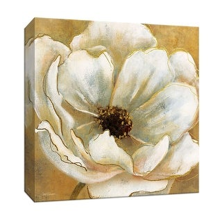 """PTM Images 9-147281  PTM Canvas Collection 12"""" x 12"""" - """"Golden Splendor I"""" Giclee Flowers Art Print on Canvas"""