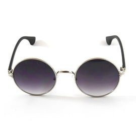 John Lennon Sunglasses Retro Round Frame, Gradient Smoke Lens