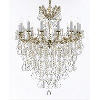 Maria Theresa Crystal Chandelier Ceiling Lamp Gold