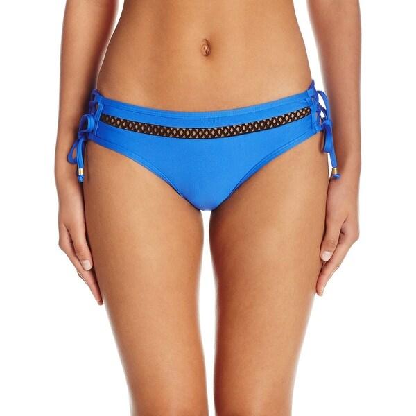 8d92e3dc211 Shop Ella Moss NEW Blue Womens Size Medium M Lace up Mid-Rise Bikini Bottom  - Free Shipping On Orders Over $45 - Overstock.com - 20005574