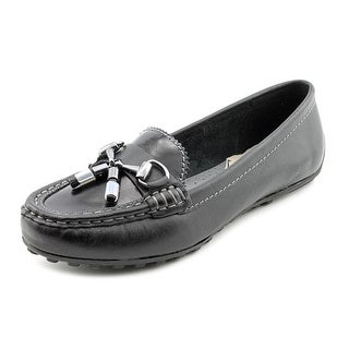 Hush Puppies Dalby Mocc Women Round Toe Leather Black Loafer