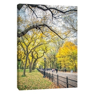 "PTM Images 9-106004  PTM Canvas Collection 10"" x 8"" - ""Central Park Autumn 1"" Giclee Roads & Paths Art Print on Canvas"