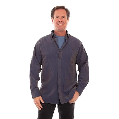 Scully Western Shirt Mens Long Sleeve Corduroy Button Front