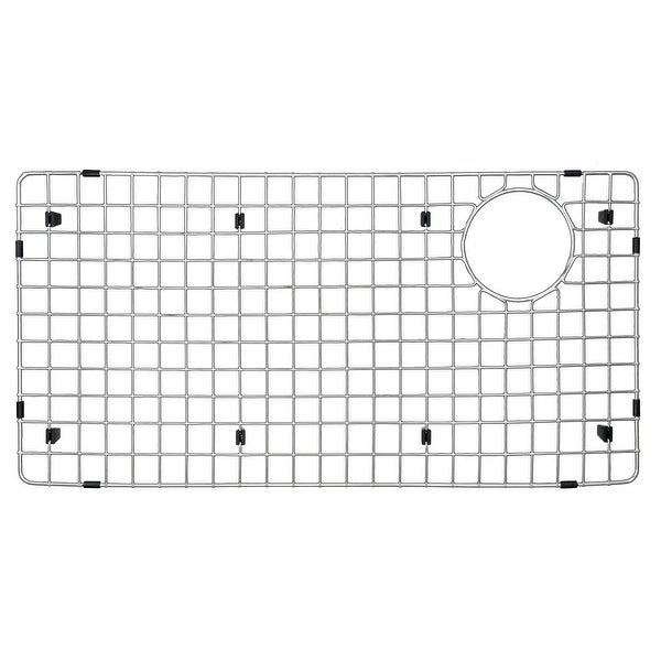 """Karran GR-6020 Stainless Steel Bottom Grid 13-3/4"""" x 27-3/4"""" fits on QT-722 and QU-722. Opens flyout."""