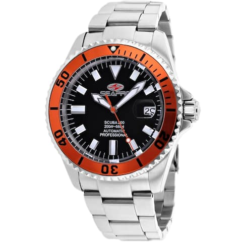 Seapro Men's Scuba 200 Black Dial Watch - SP4313 - One Size