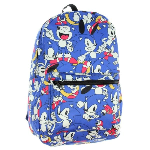 2a2620e387bc Sonic Hedgehog Backpack Sega Rush All Over Print