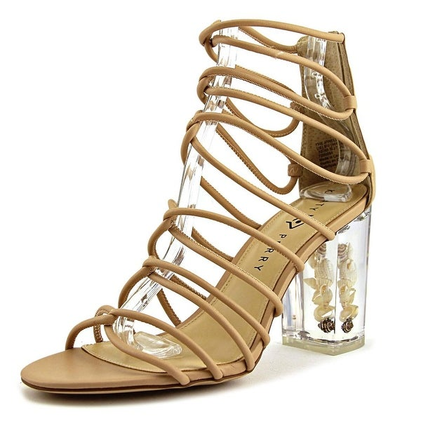Katy Perry The Janelle Women Open Toe Leather Nude Sandals