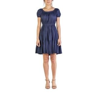 Miu Miu Women's Cotton Ribbed Dress Blue - 6