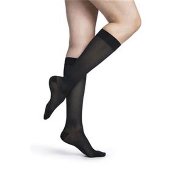 0526a658c534f Shop Womens Midsheer Calf High Socks, Dark Navy - Medium Short ...