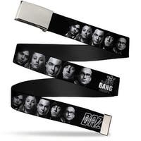 Blank Chrome 1.0 Buckle The Big Bang Theory Group Bazinga Black White Web Belt