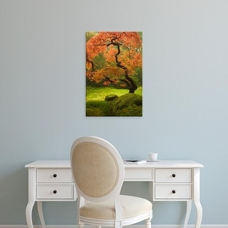 Easy Art Prints William Sutton's 'Japanese Maple' Premium Canvas Art