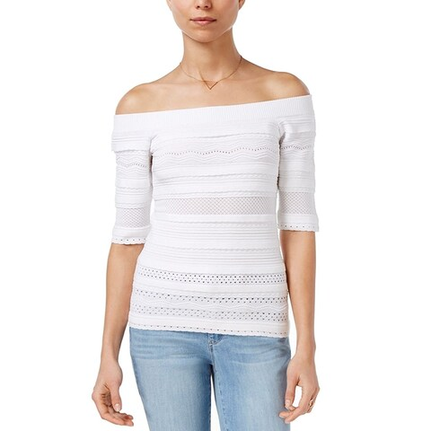 Maison Jules Off The Shoulder Sweater Bright White