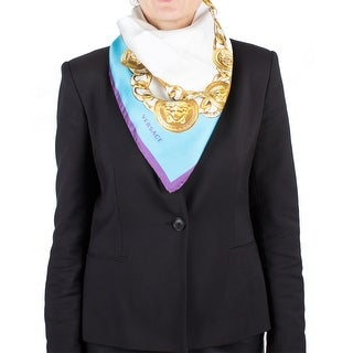 Versace Women's Medusa Head Chain Pattern Silk Scarf