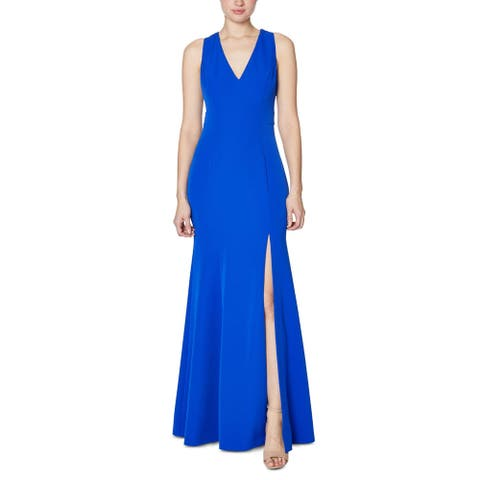 Laundry by Shelli Segal Womens Evening Dress Cut-Out Slit - Cobalt