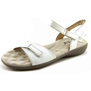 Walking Cradles Sky-3 Women W Open-Toe Leather White Sport Sandal