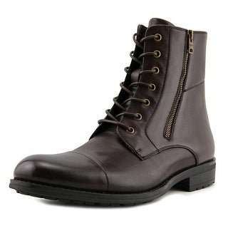 Kenneth Cole Reaction Single Mind Men  Round Toe Leather Brown Combat Boot
