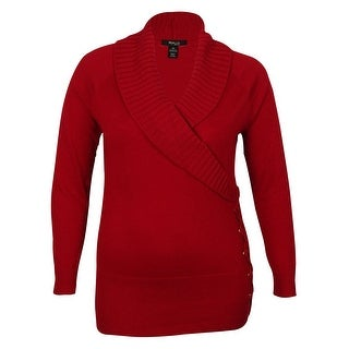 Style & Co Women's Shawl-Collar Lace-Up Sweater