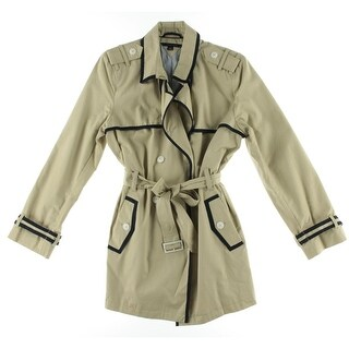 Tommy Hilfiger Womens Trench Coat Twill Contrast Trim