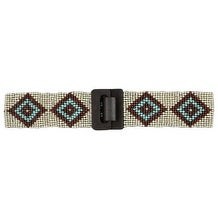 Angel Ranch Western Belt Womens Stretch Beads One Size Ivory - One size