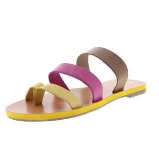 BC Girls Peanut Leather Youth Thong Sandals - 6 medium (b,m)