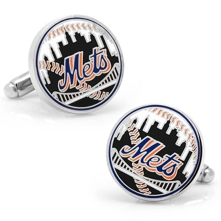 New York Mets Baseball Cufflinks - Multicolored