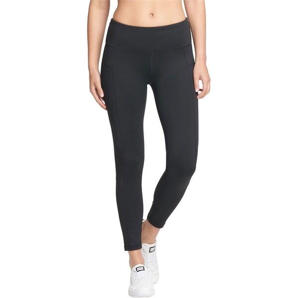 DKNY Womens High-Waist Yoga Pants, black, X-Small