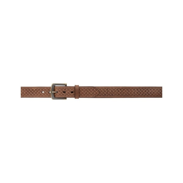 Georgia Work Belt Mens Leather Embossed Diamond Antique Brown