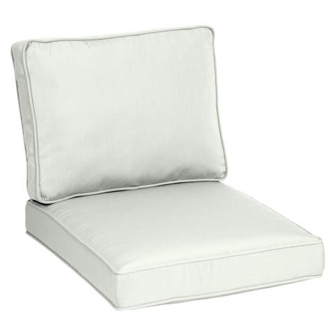 Arden Selections Oasis Plush Deep Seat Cushion Set