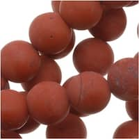 Matte Dark Red Jasper Round Gemstone Beads 6mm (15.5 Inch Strand)