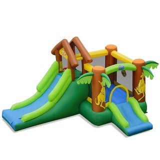 Link to Costway Inflatable Jungle Bounce House Kids Dual Slide Jumping Castle Similar Items in Outdoor Play