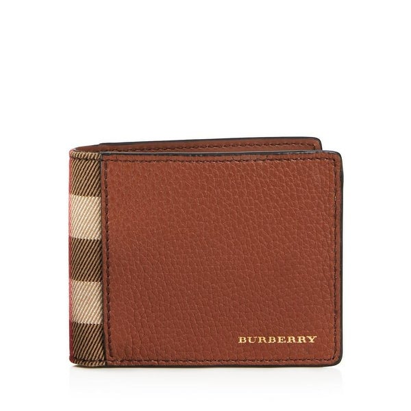 Burberry Men's Chestnut Brown Leather Bifold Wallet