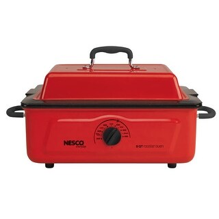 Refurbished Nesco 4815-12 5 Qt Red Porcelain Roaster
