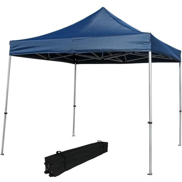 Sunnydaze Heavy-Duty Aluminum Quick-Up Canopy 10' w/Rolling Bag Choose Color