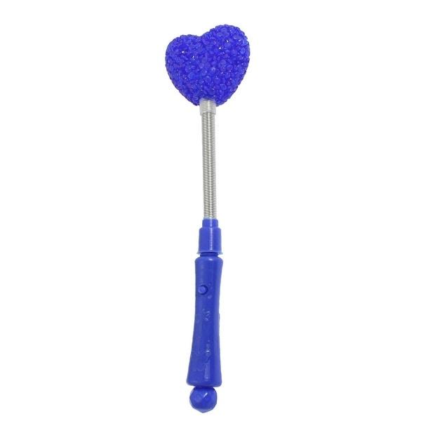 Unique Bargains Unique Bargains Plastic Handle 3 Modes Blue Light LED Heart Shiny Stick