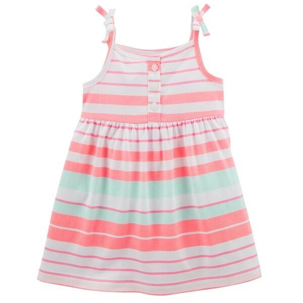 35eedac563db3 Carter's Baby Girls' Smocked Jersey Dress, 3 Months